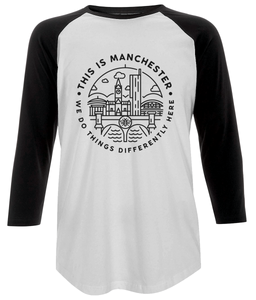 women's 'this is manchester' baseball t-shirt