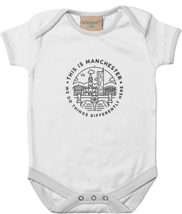 'this is manchester' babygrow onesie