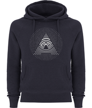 women's all seeing 'a' pullover fairtrade hoodie