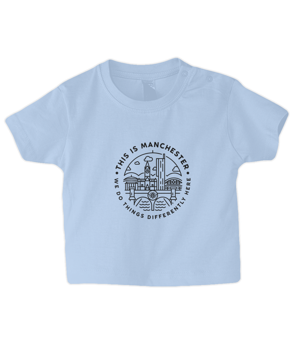 baby/toddler 'this is manchester' t-shirt