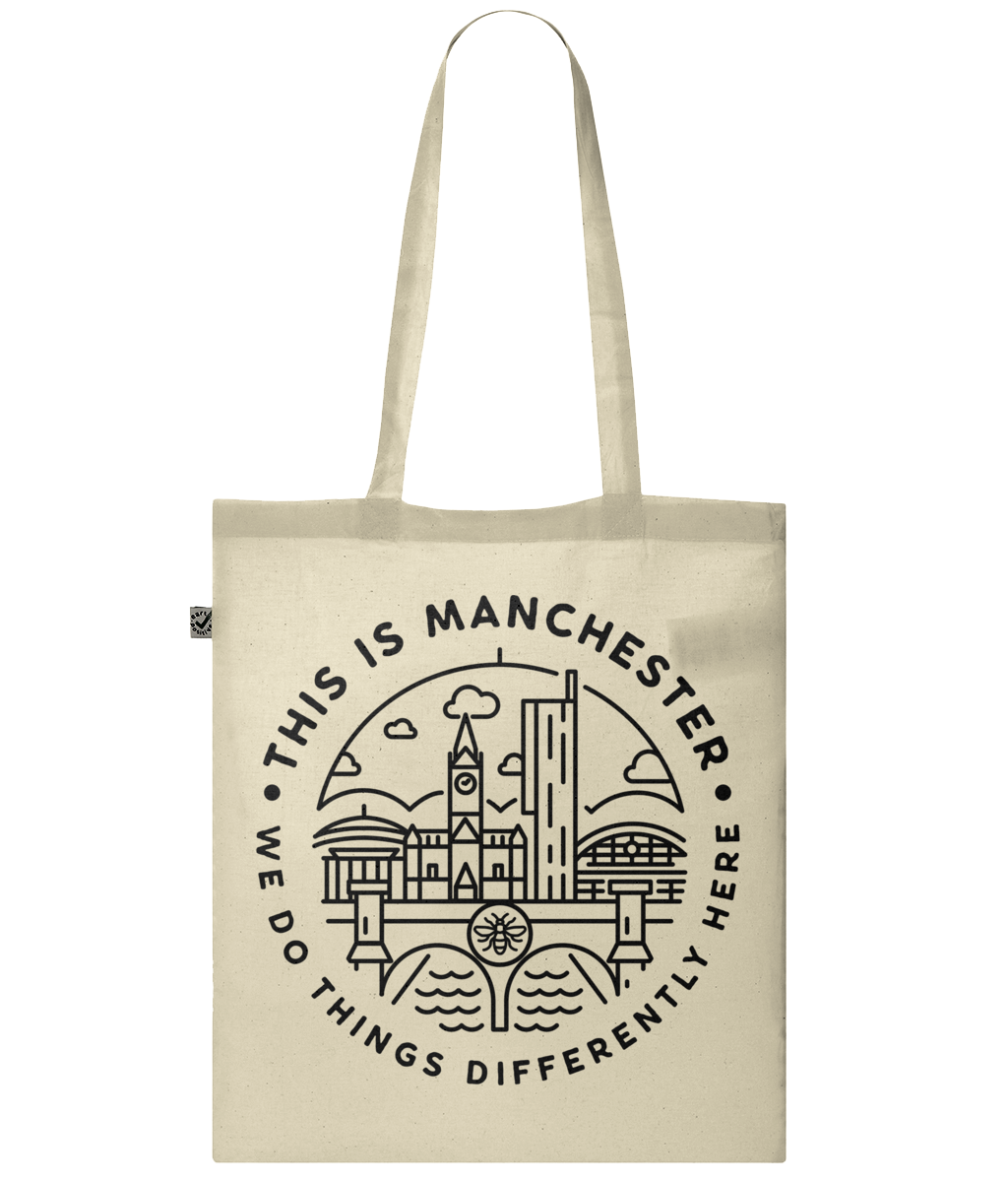 'this is manchester' classic tote bag