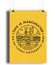 'this is manchester' - portrait print