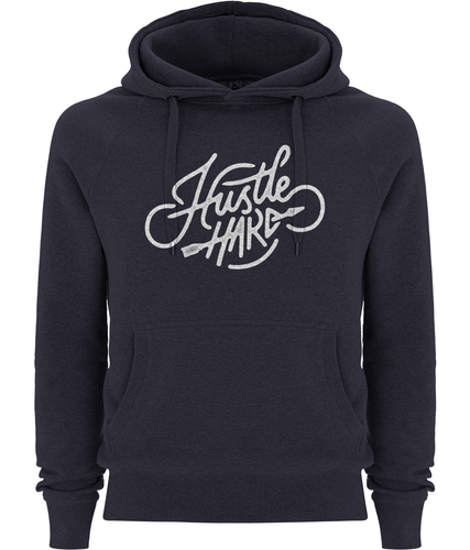 men's hustle hard pullover fairtrade hoodie
