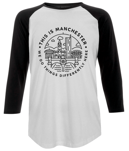 men's 'this is manchester' baseball t-shirt