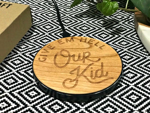 our kid qi wireless fast charge charging pad