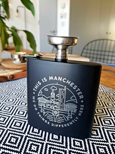 this is manchester black 6oz hip flask