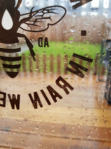 manchester bee black window stickers