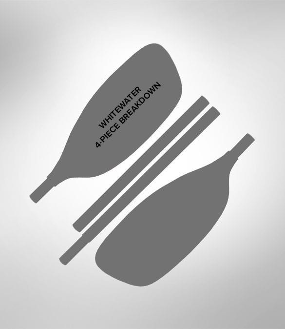 Werner Side Kick Whitewater Kayak Paddle