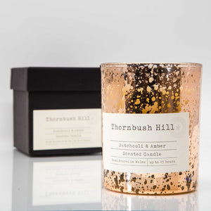 Patchouli & Amber Copper Style Gift Boxed Candle