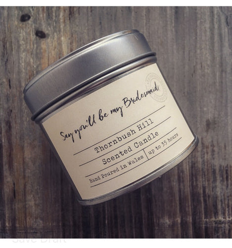 Say You'll Be My Bridesmaid Silver Tin