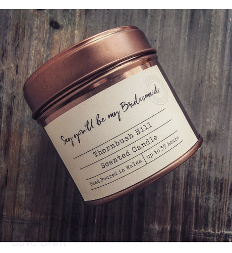 Say You'll Be My Bridesmaid Rose Tin