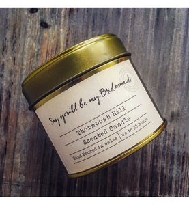 Say You'll Be My Bridesmaid Gold Tin