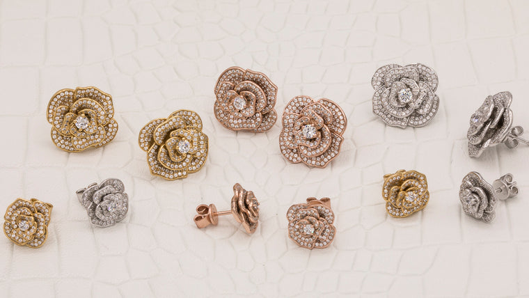 rosebud studs {floral collection}