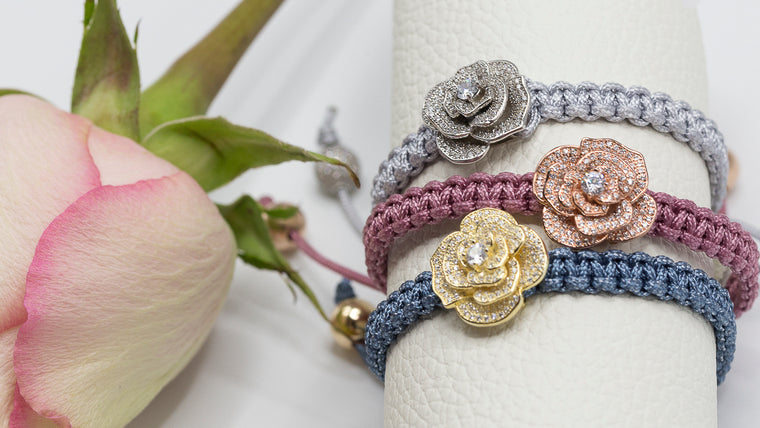 rosebuds with macrame {floral collection}