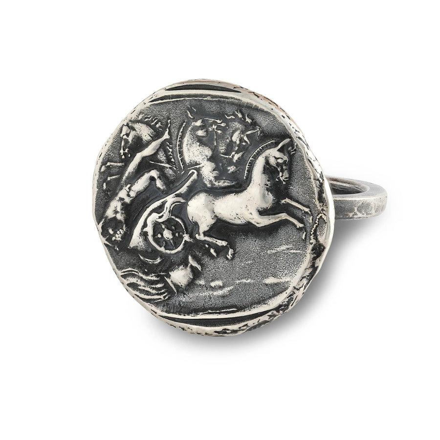 Phaethon in Helios' Chariot Medallion Ring