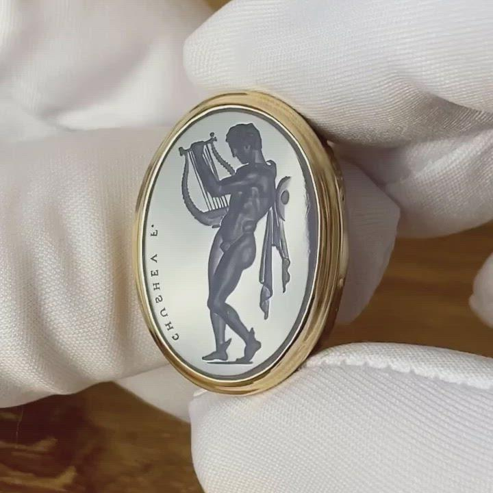 Hermes With Lyre Intaglio Ring