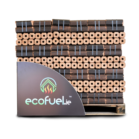 PiniKay Heat Logs. Pallet of 96 x 10kg bales (Total 1152 logs) - ecofuel.ie