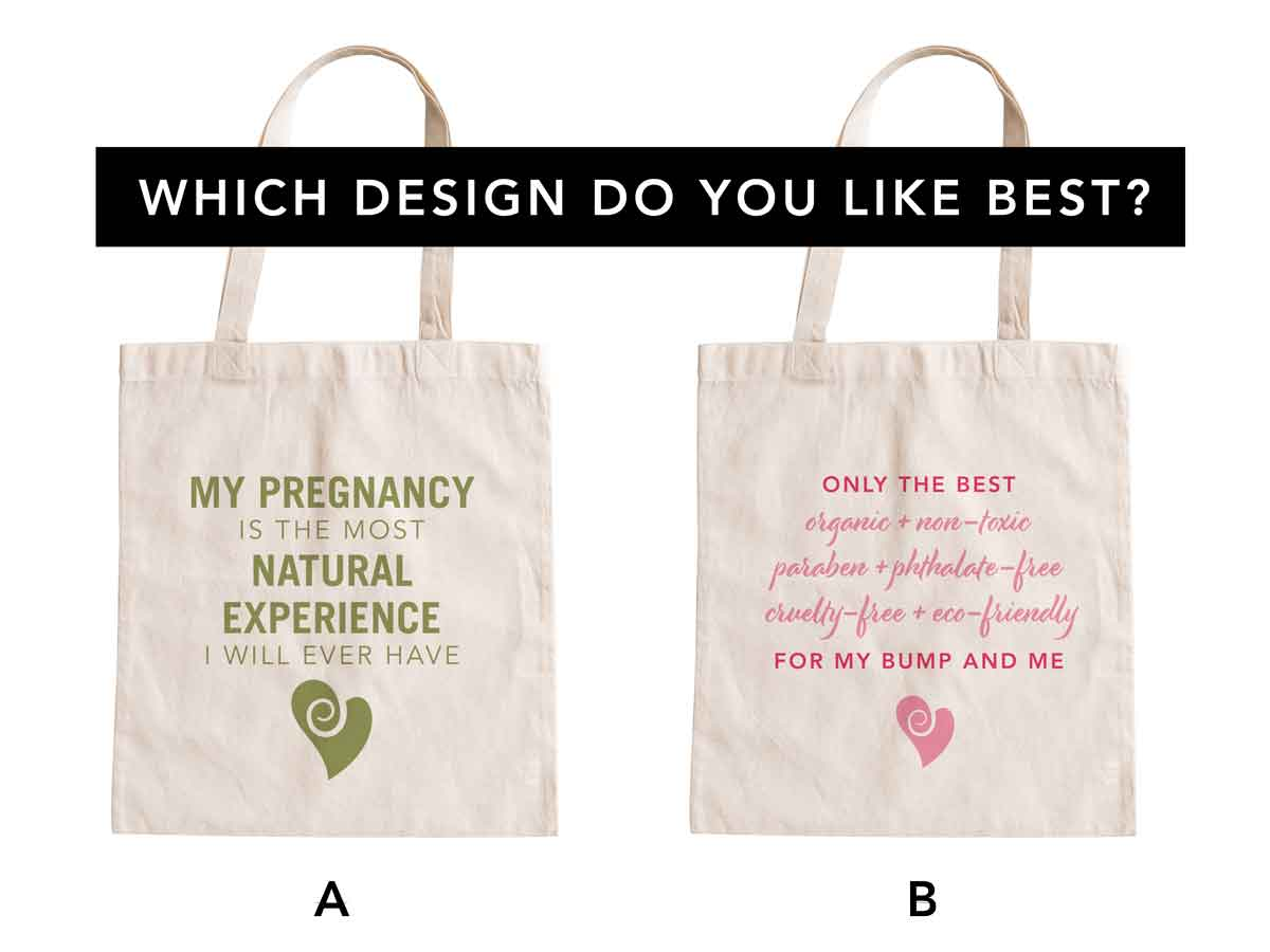 Choose Our New Pregnancy Tote Bag Design