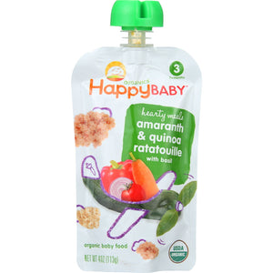 Happy Baby Baby Food - Hearty Meals - Amaranth and Quinoa Ratatouille - Case of 16