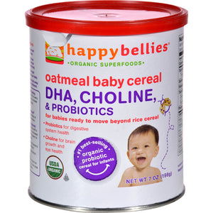 Happy Baby Happy Bellies Cereal - Organic Oatmeal - Case of 6