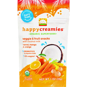 Happy Creamies Organic Snacks - Case of 8