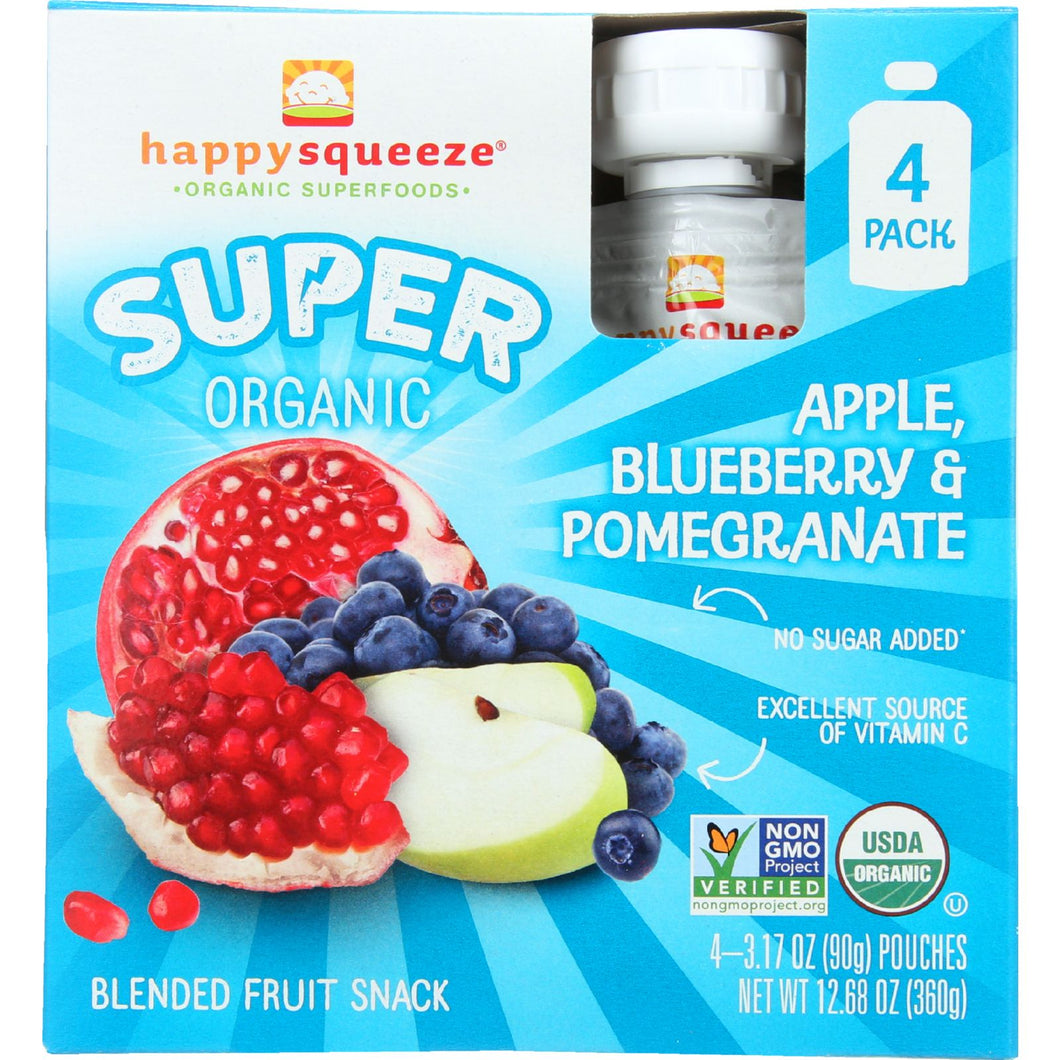 Happy Squeeze Fruit Snack - Organic - Blended - Super - -