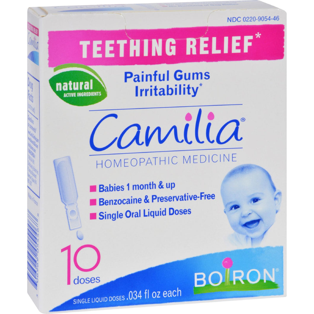 Teething Relief Pods by Boiron Camilia