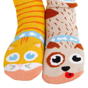Cat & Dog Pals – Fun Toddlers Socks by Pals