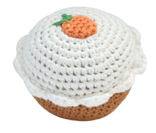 Crocheted Carrot Cupcake Rattle by Cheengoo
