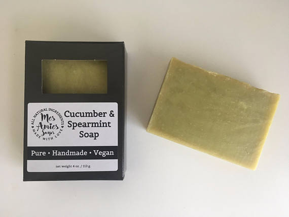 Cucumber + Spearmint Homemade Soap by Mes Amies Soap