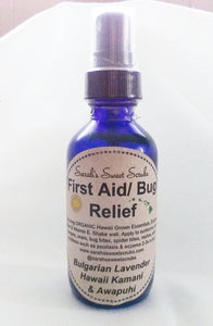 First Aid/Bug Relief Spray, Organic by Sarah's Sweet Scrubs