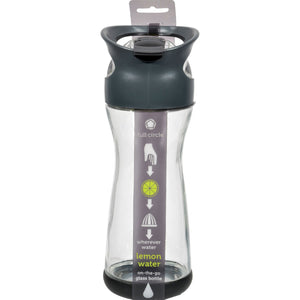 On the Go Lemon Water Glass Travel Bottle by Full Circle Home