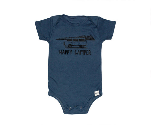 Happy Camper Onesie by GreenTeeCo