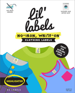 Highlighter Clothing Labels by Lil' Labels