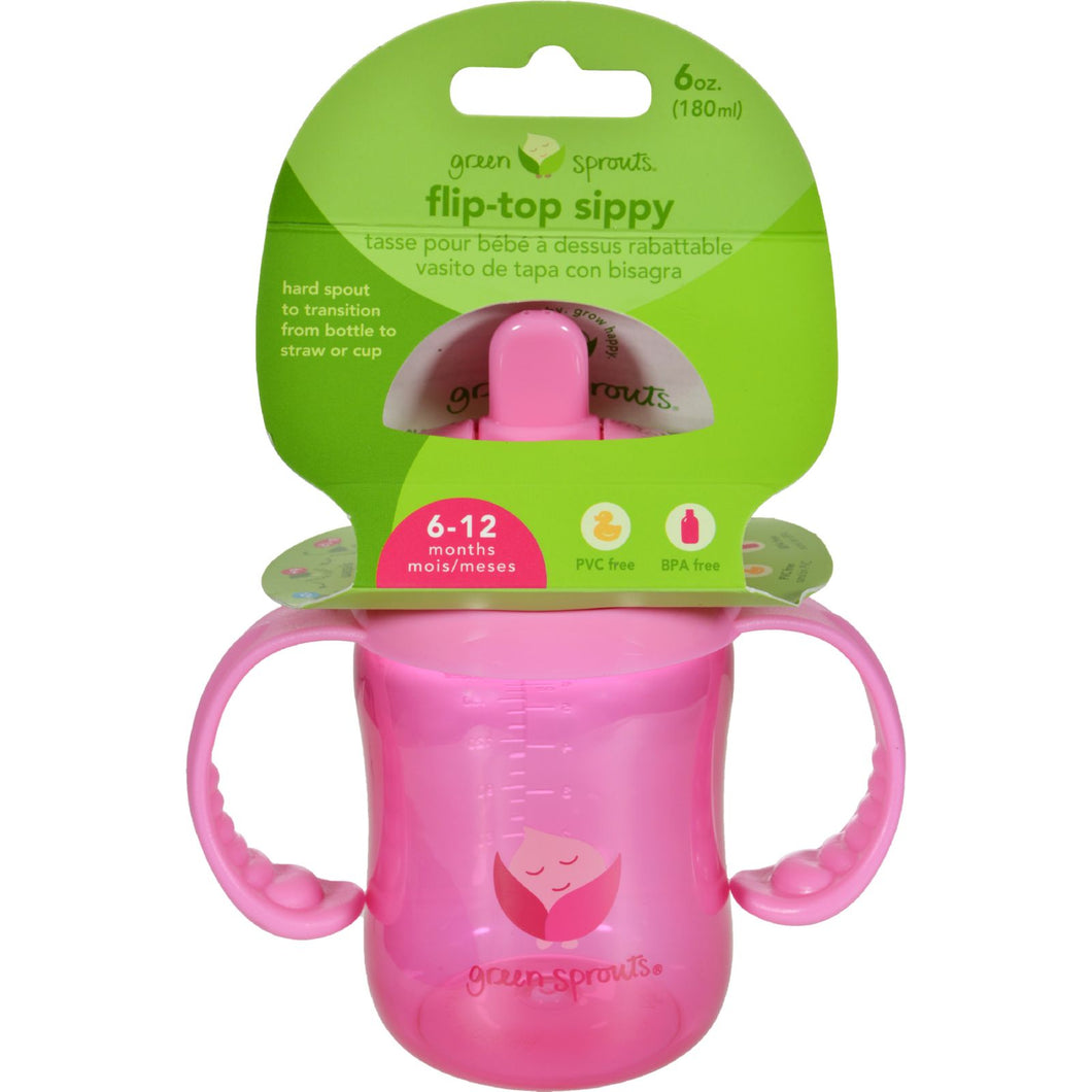 Green Sprouts Sippy Cup - Flip Top Pink