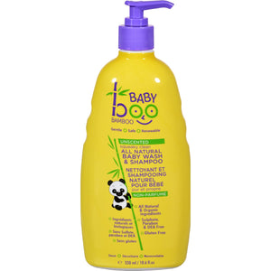 Squeaky Clean Baby Wash and Shampoo by Boo Bamboo