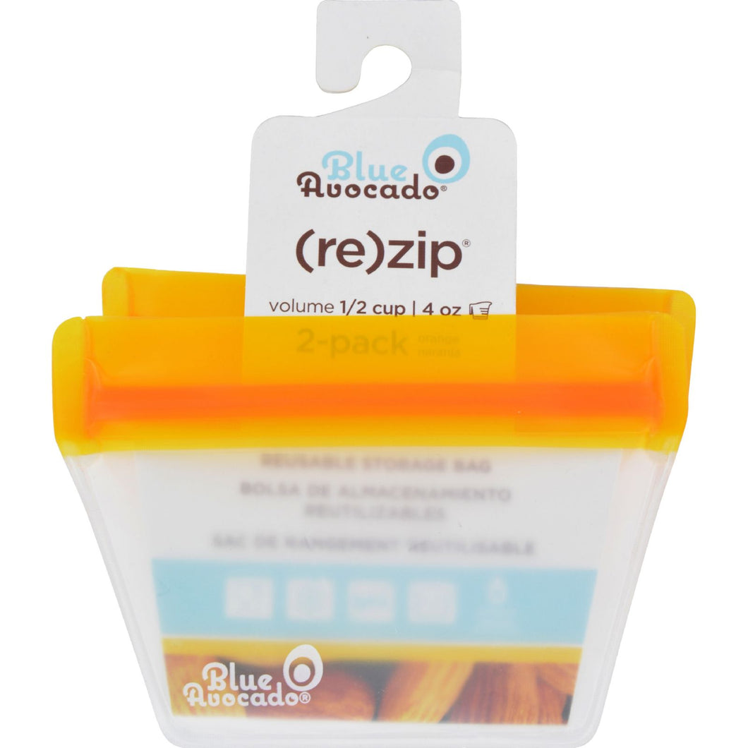 Blue Avocado Bag - Re-Zip - Half Cup - Orange - 2 Pack