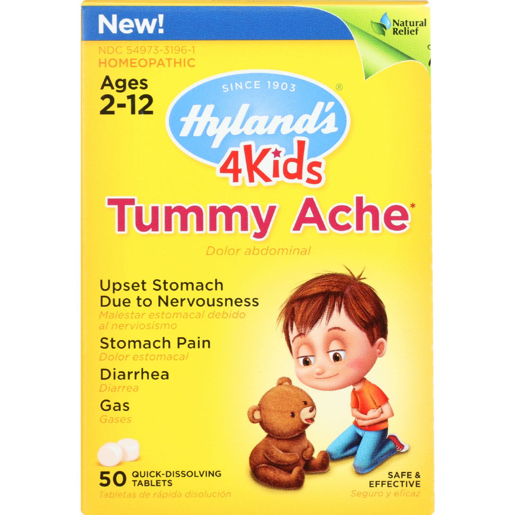 Homeopathic Tummy Ache Quick-Dissolving Tablets by Hylands 4Kids