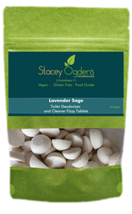 Lavender Sage Toilet Cleaner Tablets by Stacey Ogden's Homemade