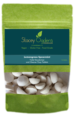 Lemongrass Spearmint Toilet Cleaner Tablets