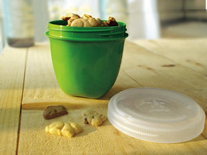 Mini Round Food Storage Container in Apple Green by Preserve
