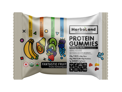 Protein Gummies: Fantastic Fruit (Pouch) by Herbaland