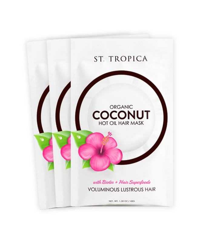 Coconut Oil Hair Mask by St. Tropica -3pack