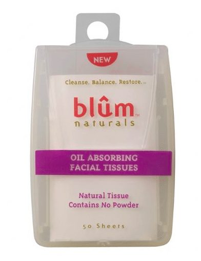 Oil Absorbing Facial Tissues by Blum Naturals