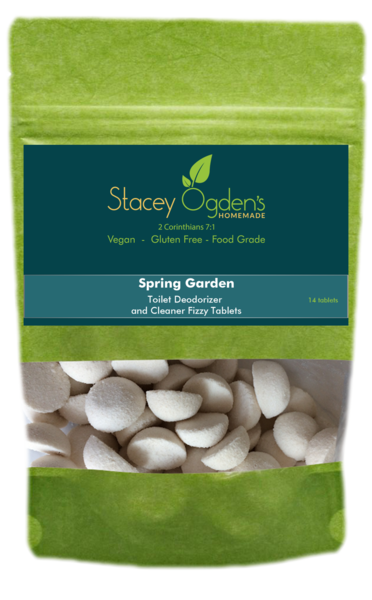 Spring Garden Toilet Cleaner Tablets by Stacey Ogden's Homemade