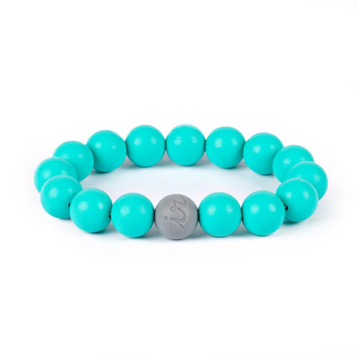 Teething Happens Bead Bracelet - Turquoise by Itzy Ritzy