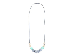Teething Happens Cube Necklace - Surf Mist by Itzy Ritzy