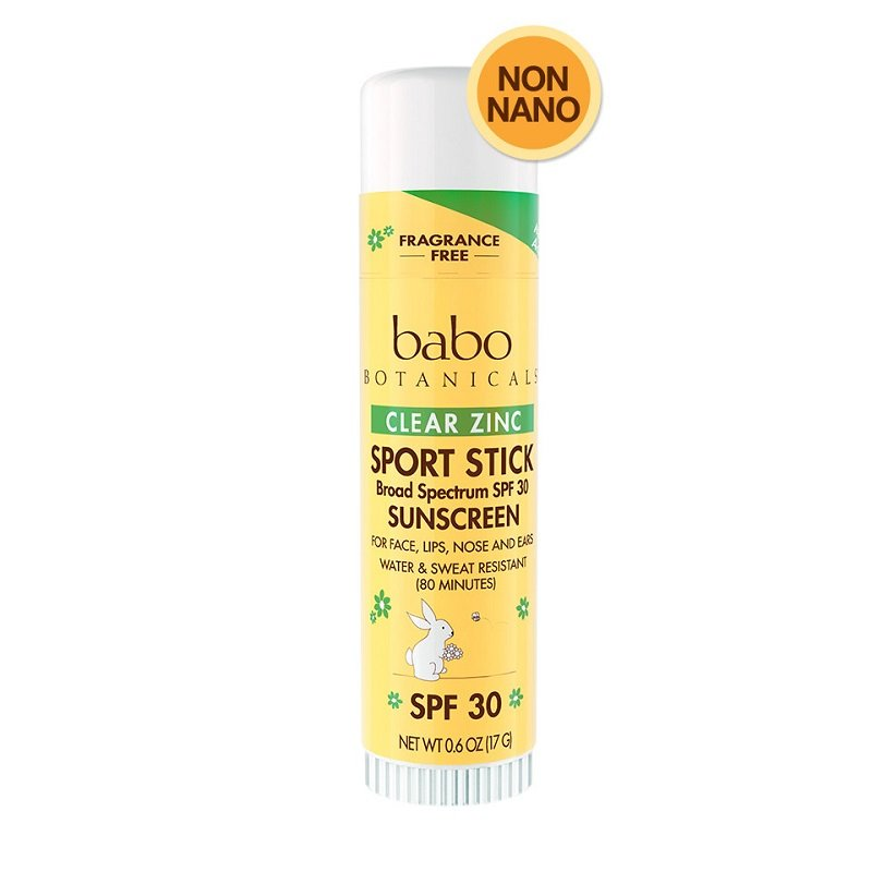 SPF 30 Clear Zinc Sport Stick Sunscreen - Fragrance Free by Babo Botanicals