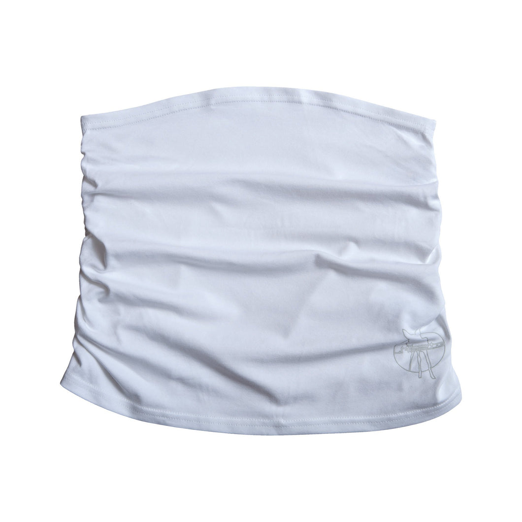White Ruffled Bellyband by Lassig