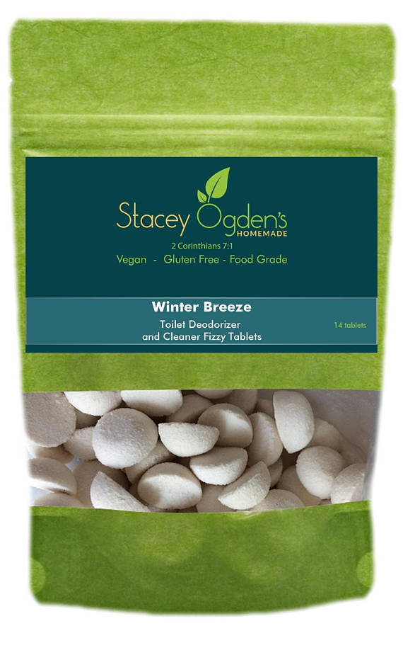 Winter Breeze Toilet Cleaner Tablets by Stacey Ogden's Homemade